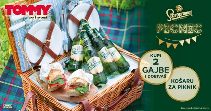 Kupnjom dvije gajbe Staropramen piva, na poklon dobivaš košaru za piknik!