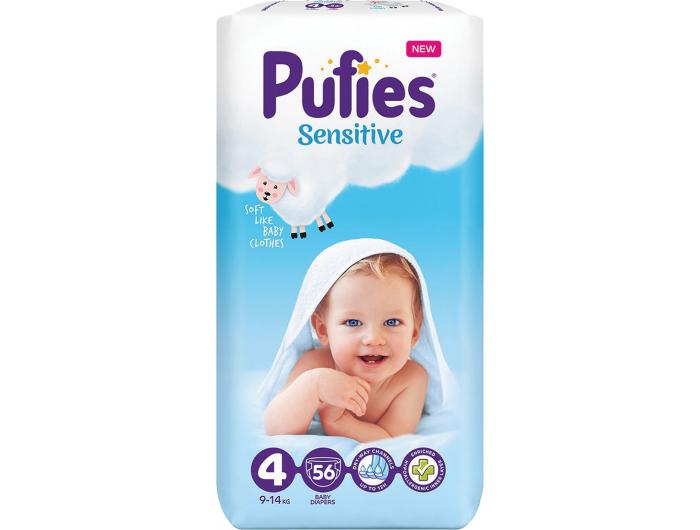 Pufies Sensitive Dječje pelene vel. 4 (9-14 kg) 56 kom