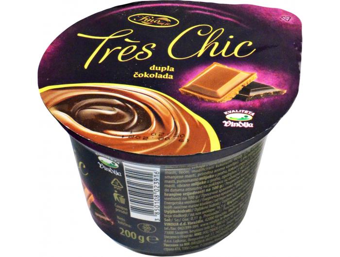 Vindija Tres chic puding dupla čokolada 200 g