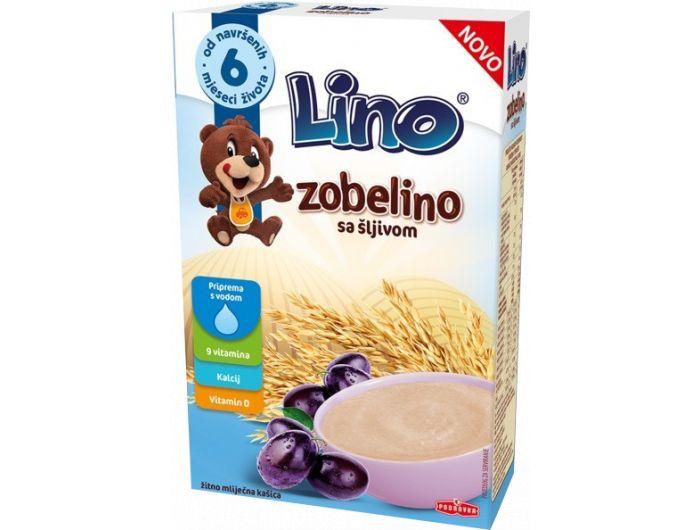 Žitno-mliječna kašica, sa šljivom, 6 + mj., 200 g, Zobelino, Lino, Podravka