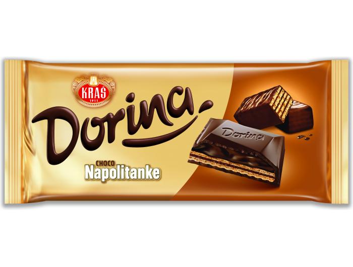 Kraš Dorina čokolada choco Napolitanke 100 g