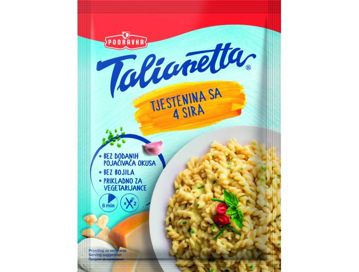 Podravka Talianetta instant tjestenina s 4 vrste sira 145 g