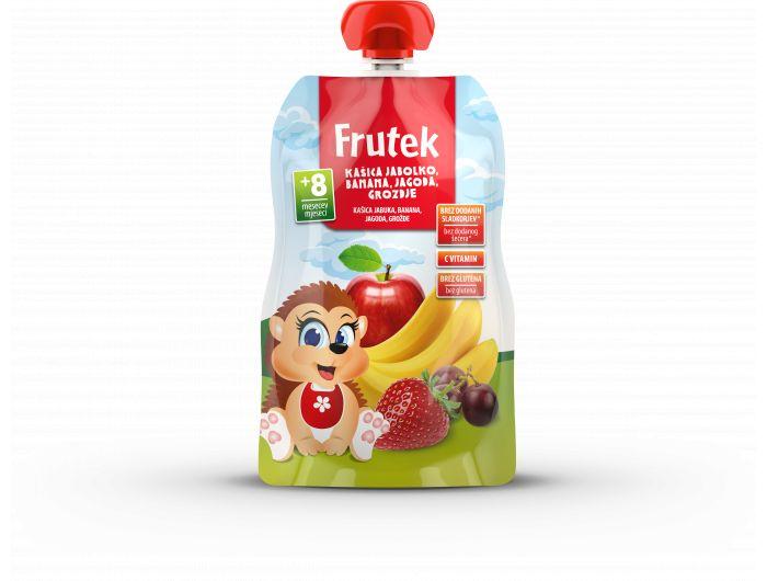Frutek Voćna kašica od jabuke, banane, jagode i grožđa, 8+mj. 100 g