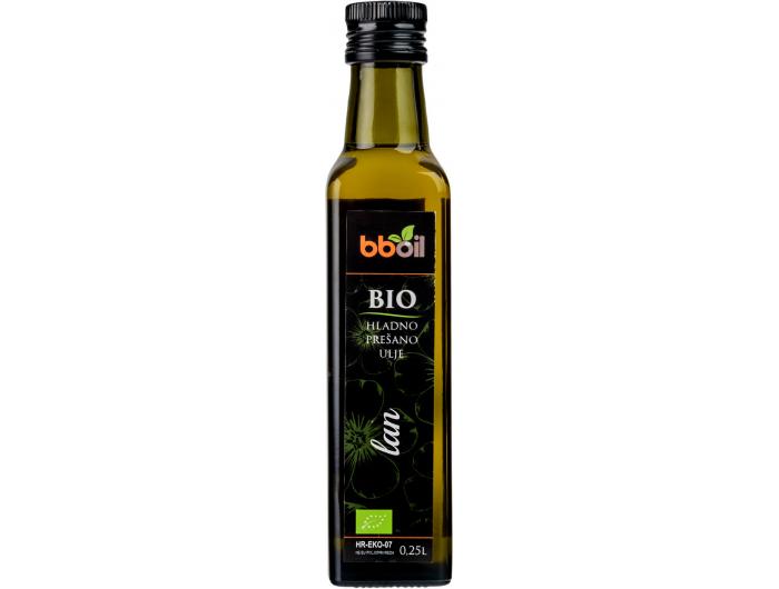 bboil BIO hladno prešano ulje lana 0,25 L