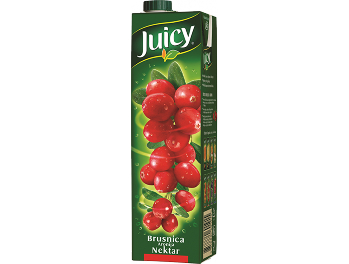 Juicy brusnica aronija nektar 1 L