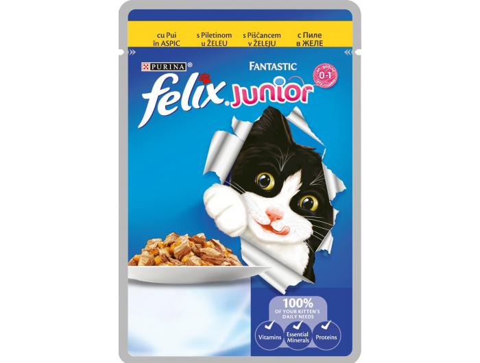Felix Hrana za mačke junior piletina 100 g