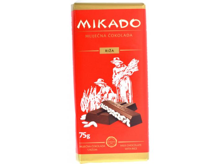 Zvečevo Mikado mliječna čokolada s rižom 75 g
