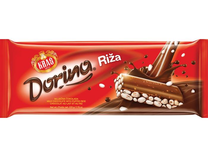 Kraš Dorina čokolada s rižom 220 g