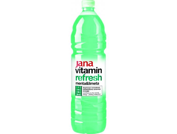 Jana vitamin Refresh negazirano piće menta limeta 1,5 L