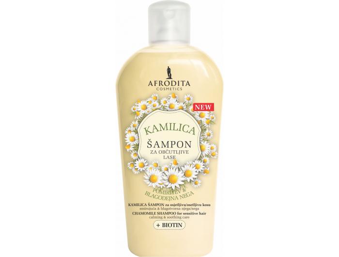 Afrodita šampon za osjetljivu kosu kamilica & Biotin 1 L