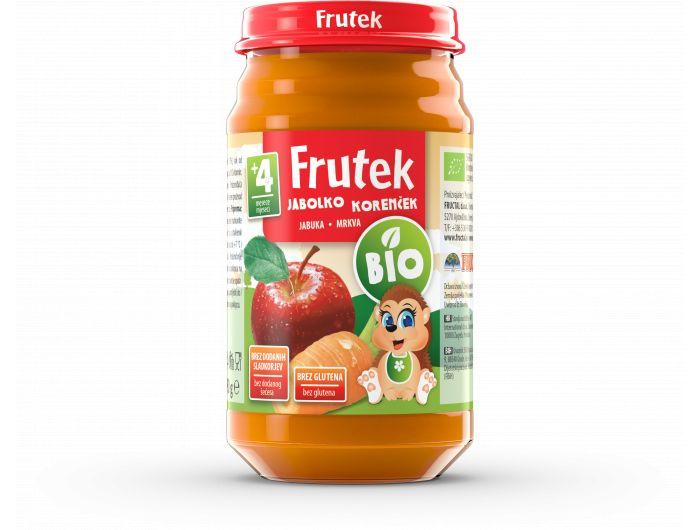 Frutek Bio Dječja kašica jabuka i mrkva 190 g
