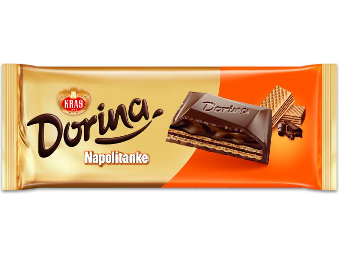 Kraš Dorina čokolada napolitanke 290 g