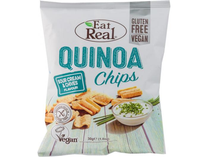 Eat Real čips od quinoe s okusom vrhnja i vlasca 30 g