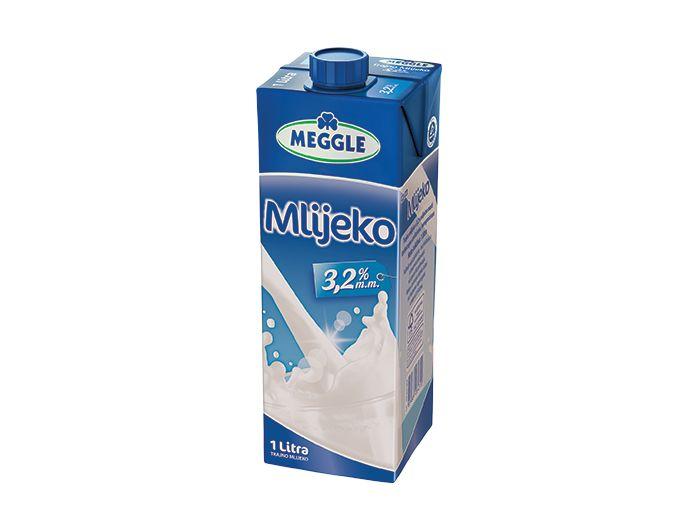 Meggle trajno mlijeko s čepom 3,2% m.m. 1 L