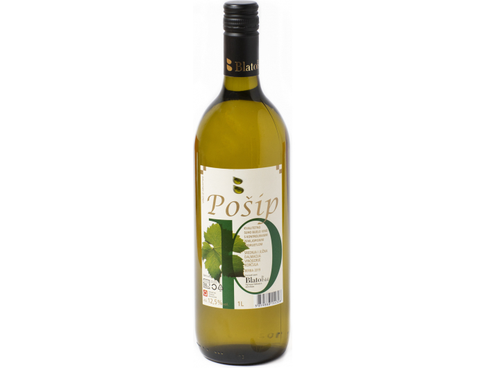 Vino bijelo Pošip Blato 1 L