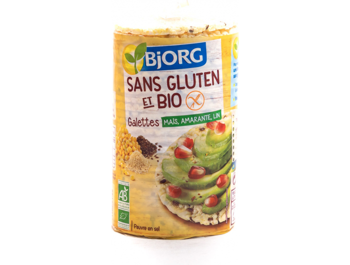 Bjorg BIO kukuruzni kreker s dodatkom amarantha i lana 150 g