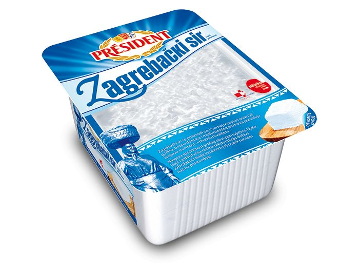 President zagrebački svježi sir 375 g