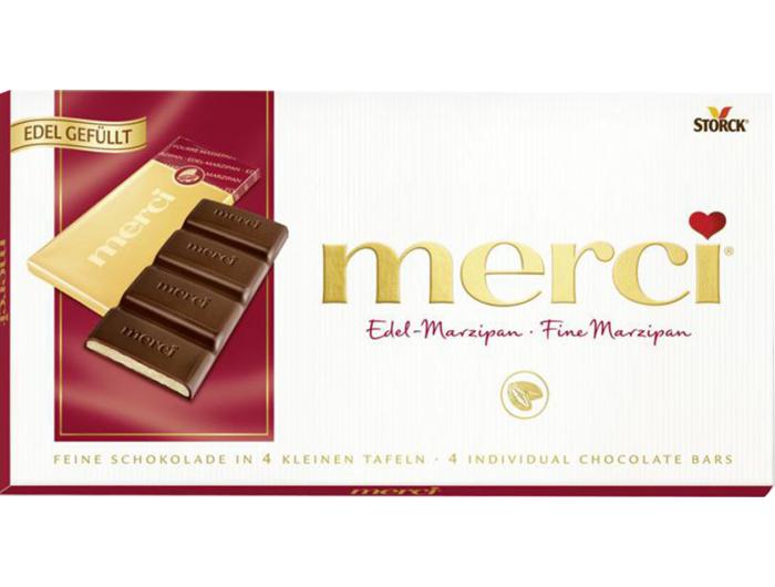 Merci Tamna čokolada Marcipan 112 g