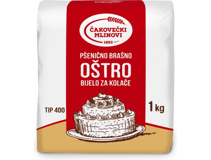 Čakovečki mlinovi pšenično brašno oštro bijelo za kolače T-400 1 kg