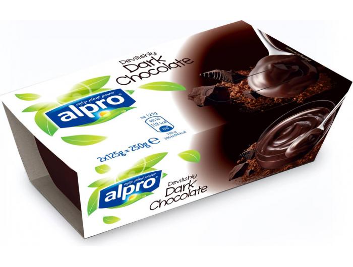Alpro desert od soje s okusom tamne čokolade 2x125 g
