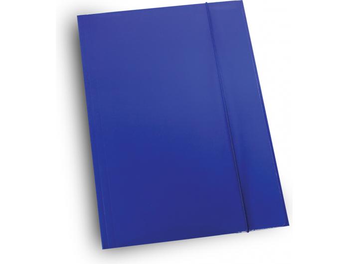 Optima fascikl  kartonski lakirani s gumicom tamno plavi