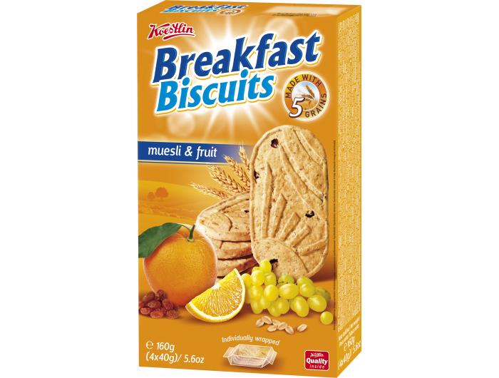 Koestlin Breakfast čajno pecivo s voćem 160 g