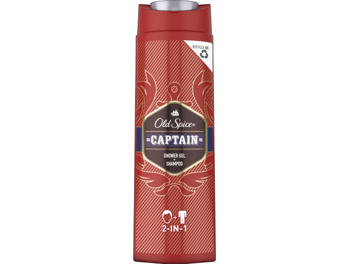 Old spice gel za tuširanje captain 400 ml