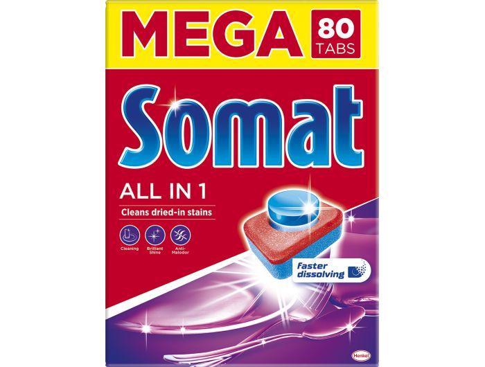 Somat deterdžent za strojno pranje posuđa  All in one 80 tableta