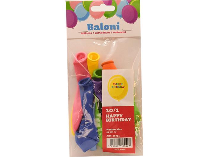 Baloni 10 kom Happy birthday