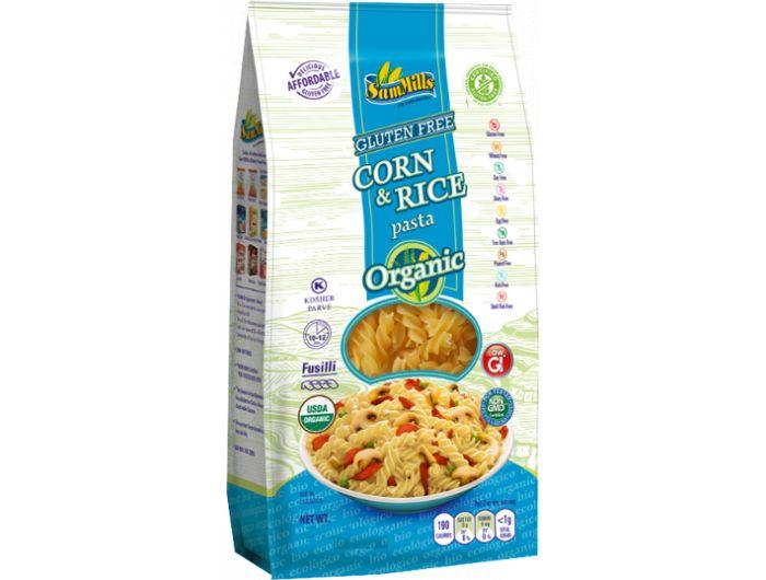 Eko tjestenina, 400 g, s kukuruzom i rižom, bez glutena, Fusili, Sam Mills