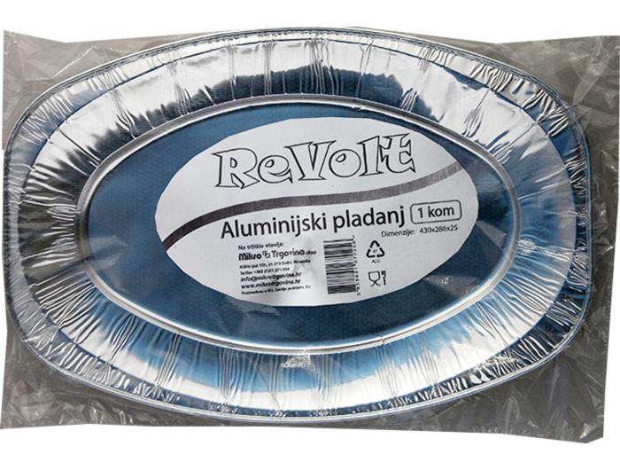 Aluminijski pladanj 43,0x28,6x2,5 cm