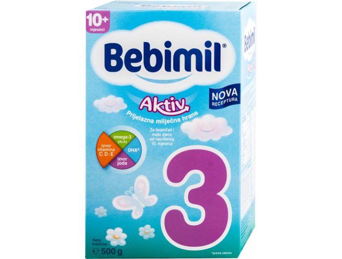 Zamjensko mlijeko, 500 g, aktiv, Bebimil 3