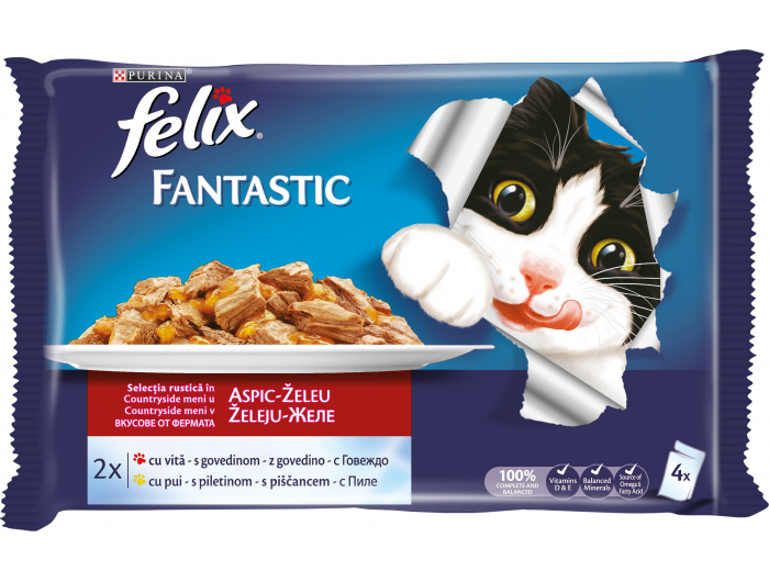 Felix Hrana za mačke meso  4 x100 g
