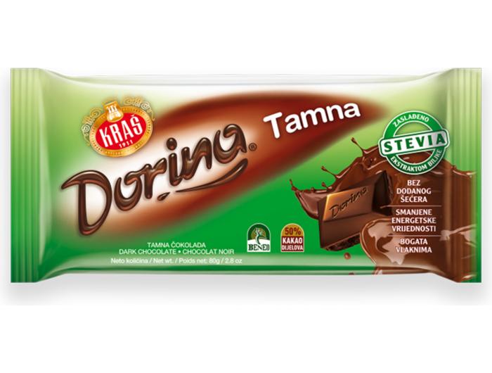 Kraš Dorina tamna čokolada sa stevijom 80 g