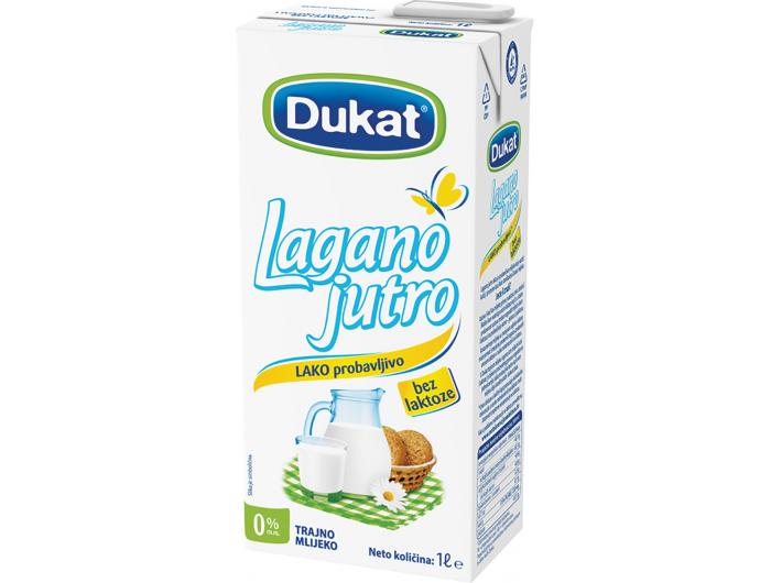 Dukat Lagano jutro trajno mlijeko 0% m.m. 1 L