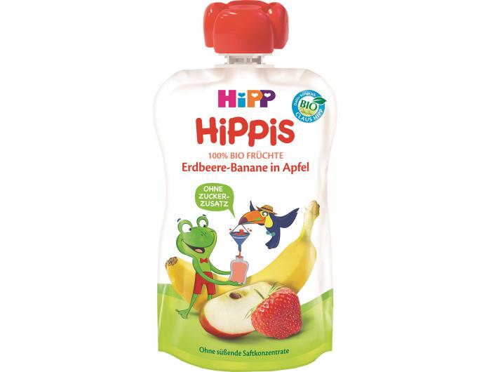 HiPP HiPPis Bio Voćni pire jabuka, banana i jagoda 100 ml