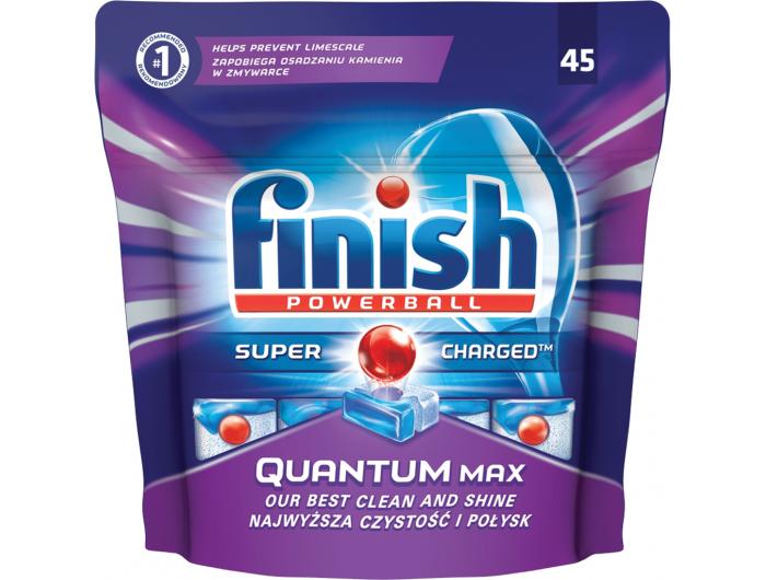 Finish Powerball Quantum Max tablete za strojno pranje posuđa 45 kom