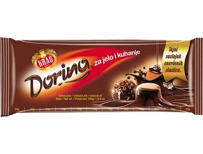 Kraš Dorina čokolada za jelo i kuhanje 300 g