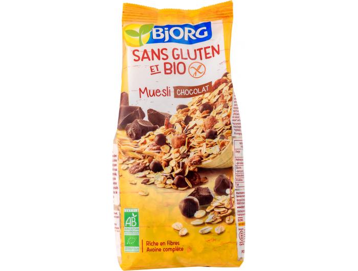 Bjorg BIO muesli s čokoladom bez glutena 375 g