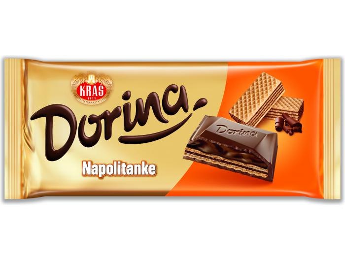 Kraš Dorina čokolada napolitanke 100 g