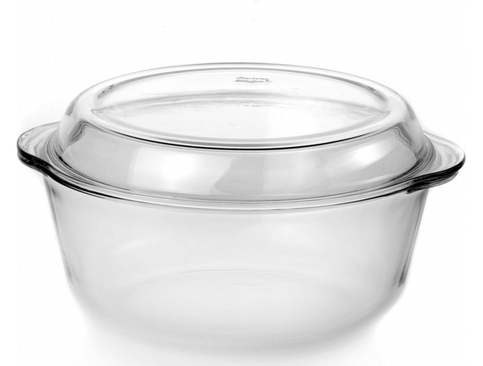Vatrostalna okrugla zdjela s poklopcem 3 L