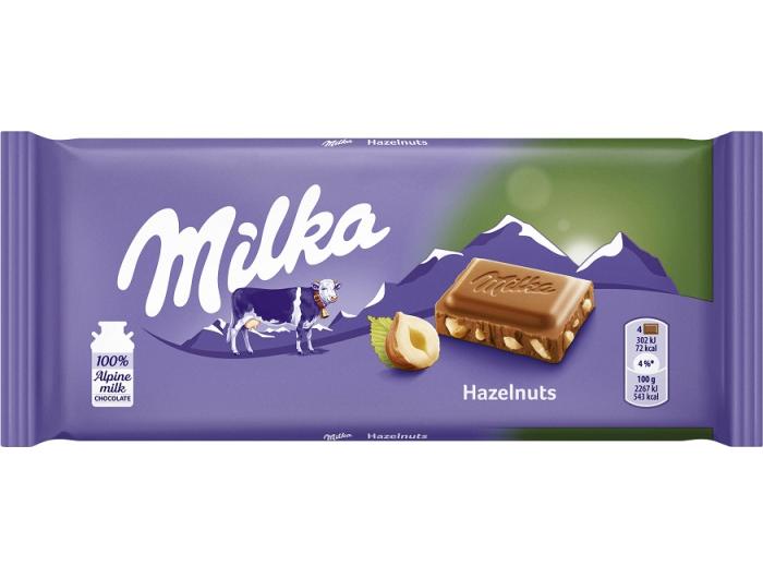 Čokolada Milka 80 g s lješnjacima