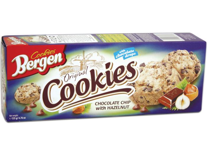 Bergen keks s komadićima čokolade i lješnjaka 135 g