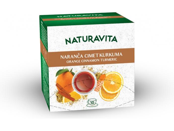 Naturavita čaj naranča s cimetom i kurkumom 10x2,5 g