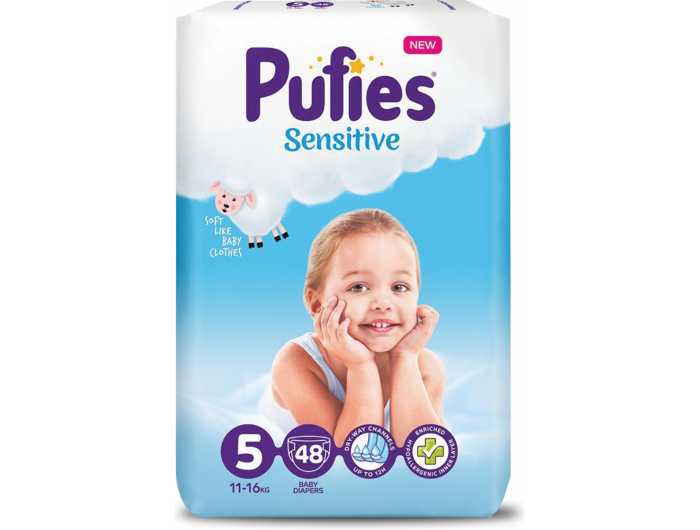 Pufies Sensitive Dječje pelene vel. 5 (11-16 kg) 48 kom