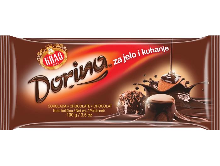 Kraš Dorina čokolada za jelo i kuhanje 100 g