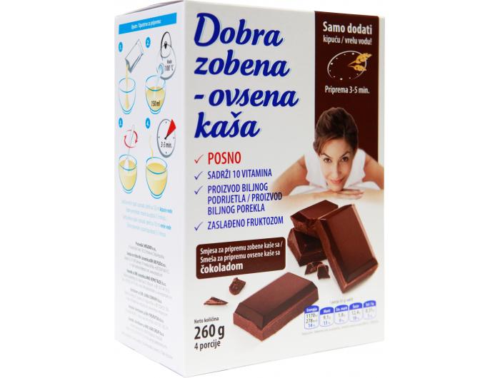 Bio Plod Dobra zobena kaša čokolada 260 g