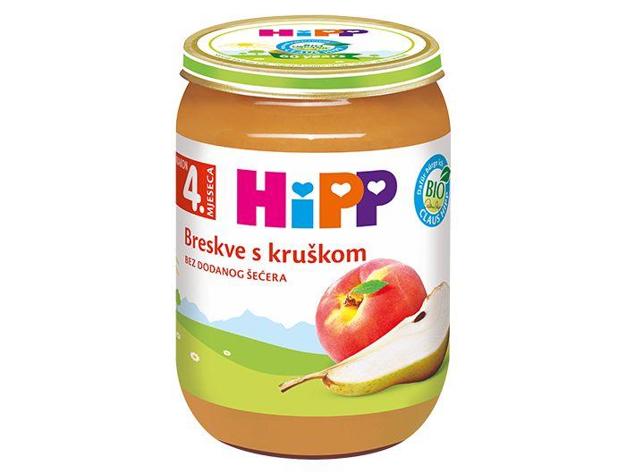 Dječja hrana, 190 g, od breskve i kruške, Hipp