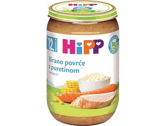Dječja hrana, 190 g, puretina/birano povrće, Hipp