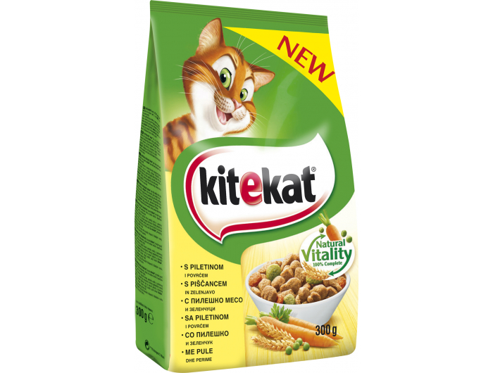 Kitekat hrana za mačke piletina i povrće 300 g